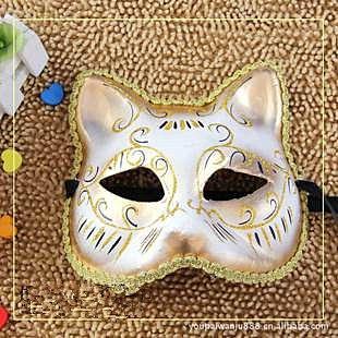 =優生活=威尼斯面具 歐式臉譜 聖誕節面具 性感貓女 彩繪面具 表演面具