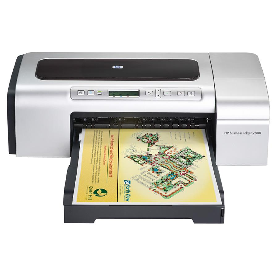 HP Business Inkjet 2800 Inkjet Printer - Color - 4800 x 1200 dpi Print - Photo Print - Desktop - 24 ppm Mono / 21 ppm Color Print - Letter, Legal, Tabloid, Super B, Executive, Statement, Envelope No. 10, Monarch Envelope, Custom Size - 250 sheets Standard 0