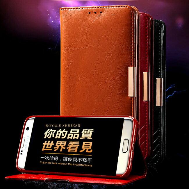 【預購】三星 S7 Edge G9350 卡來登捨得二真皮保護套 Samsung S7 G9300 金屬磁扣插卡支架真皮皮套