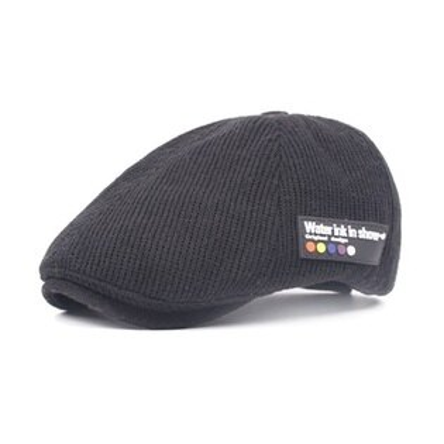 貝雷帽鴨舌帽-復古針織毛線秋冬男女帽子4色73tv128【獨家進口】【米蘭精品】