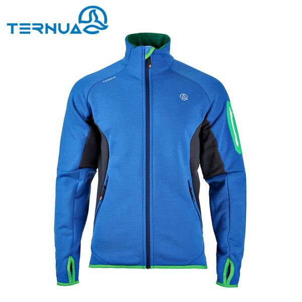 【西班牙TERNUA】男PowerStretch中層保暖外套1642654(M-XL)城市綠洲(透氣、彈性、快乾、健走)