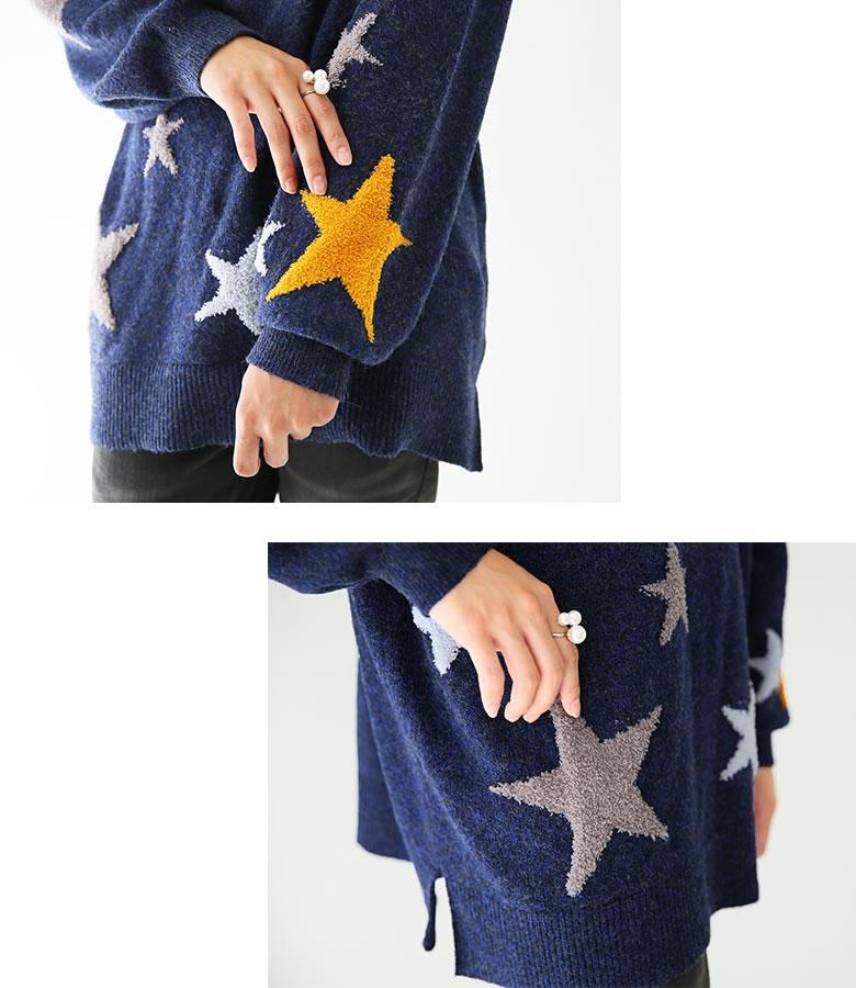 日本osharewalker  /  可愛星星印花針織毛衣  /  tcn1042  /  日本必買 日本樂天直送(4290) 4