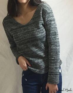 WOWGOTU:SoulMade-韓製針織內刷毛V領衣4色
