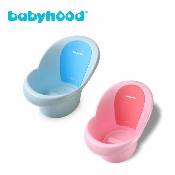 Babyhood朵唯嬰兒浴桶(藍色粉紅)送可愛七星瓢蟲水溫計1個(顏色隨機出貨)『121婦嬰用品館』