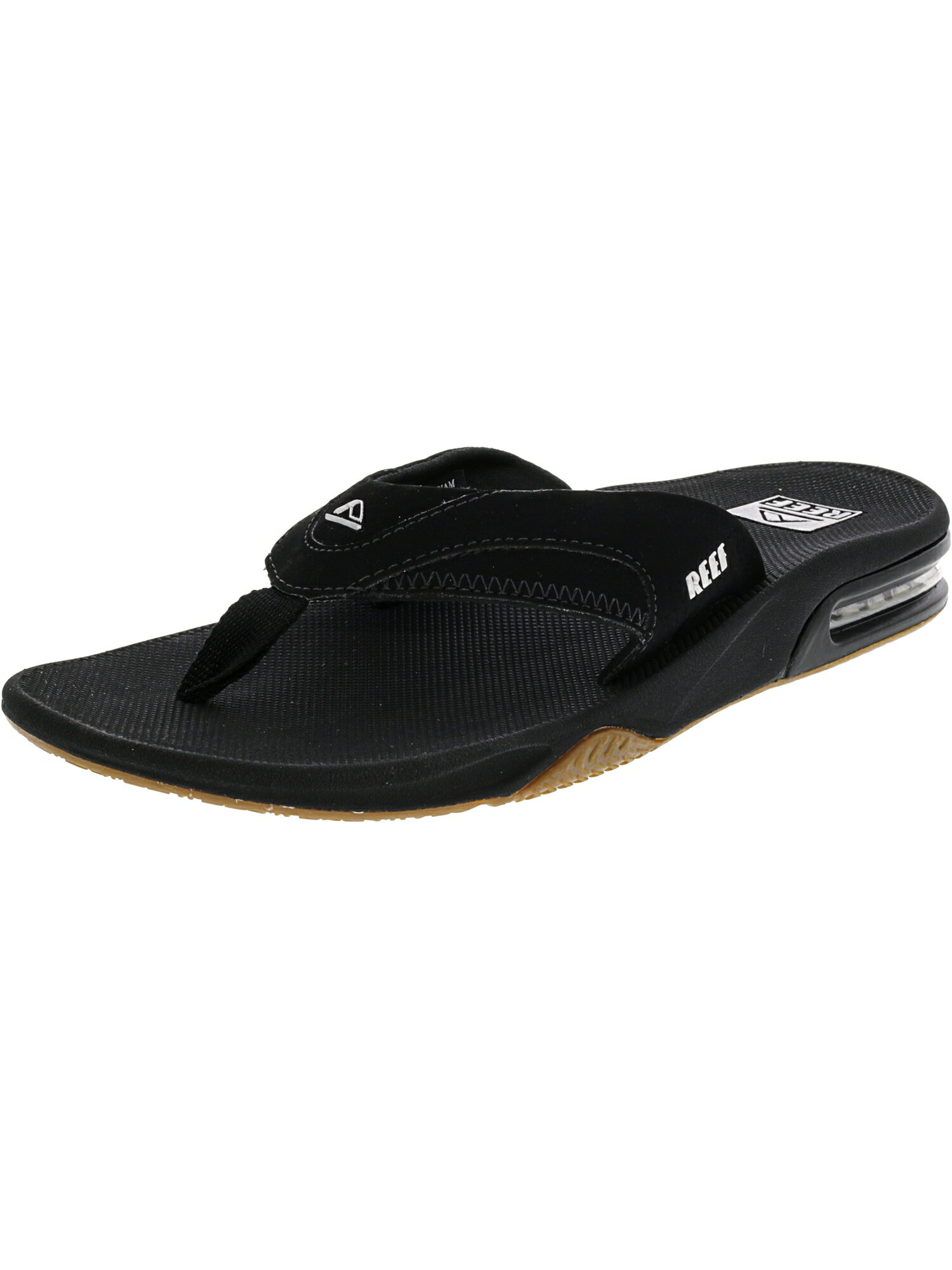 467c214a223 AreaTrend  Reef Men s Fanning Black   Silver Low Top Rubber Sandal ...
