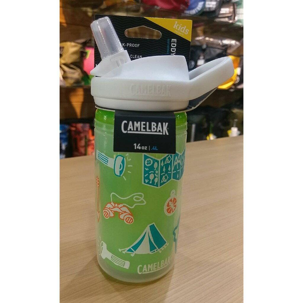 《CamelBak》400ml eddy+ 兒童吸管雙層隔溫運動水瓶 冒險地圖