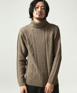 高領毛衣BEIGE