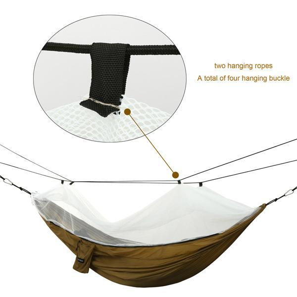 Oxford Mesh Waterproof Hanging Folding Garden hammock 0