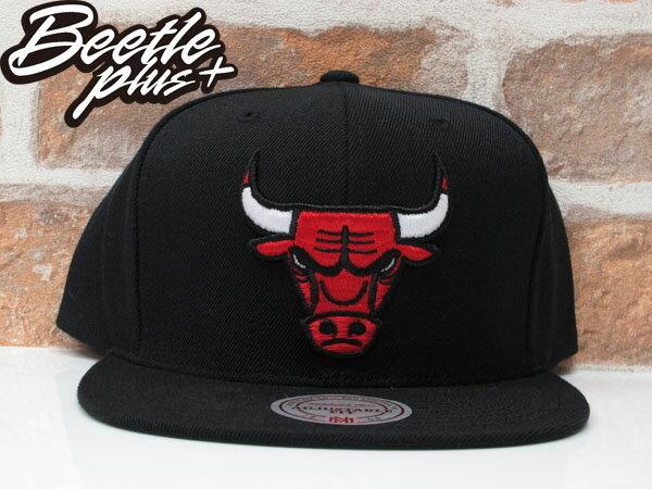 BEETLE MITCHELL&NESS NBA BULLS 芝加哥 黑紅 公牛 LOGO刺繡 SNAPBACK 後扣帽 0