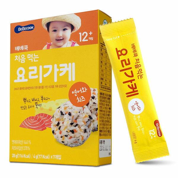 韓國 智慧媽媽 BEBECOOK 初食拌飯香鬆-鮭魚起司28g(12個月以上)