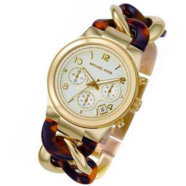 美國Outlet正品代購 MichaelKors MK 玳瑁三環 手鍊 手錶 腕錶 MK4222 3