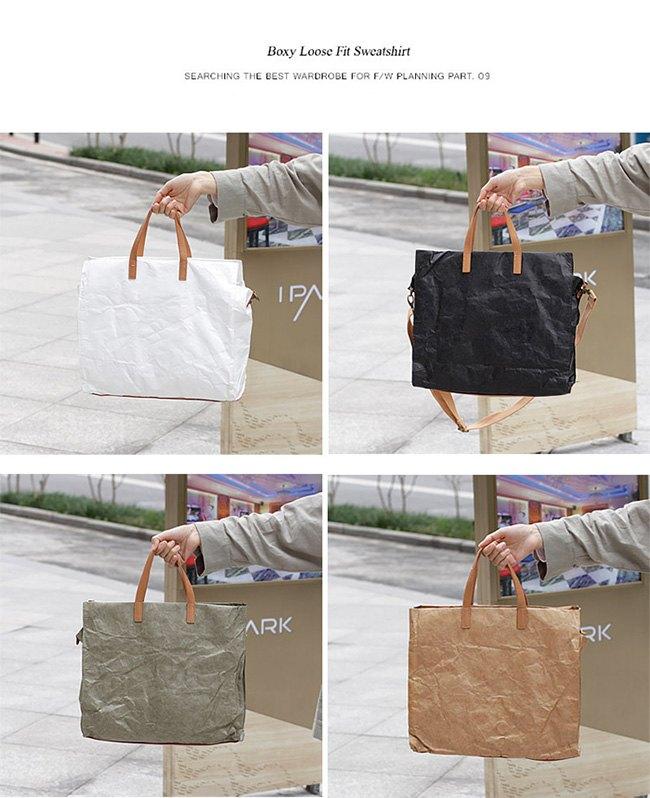 帆布袋 復古 拉鍊 褶皺 牛皮紙 手提包 環保購物袋-手提 / 單肩 / 斜背包【AL181】 BOBI  09 / 20 2