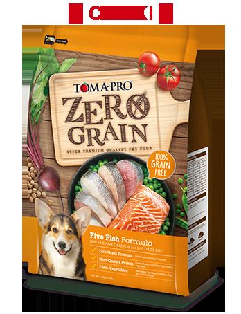 優格天然零穀%零穀5種魚 全年齡犬用 晶亮護毛配方2.49KG