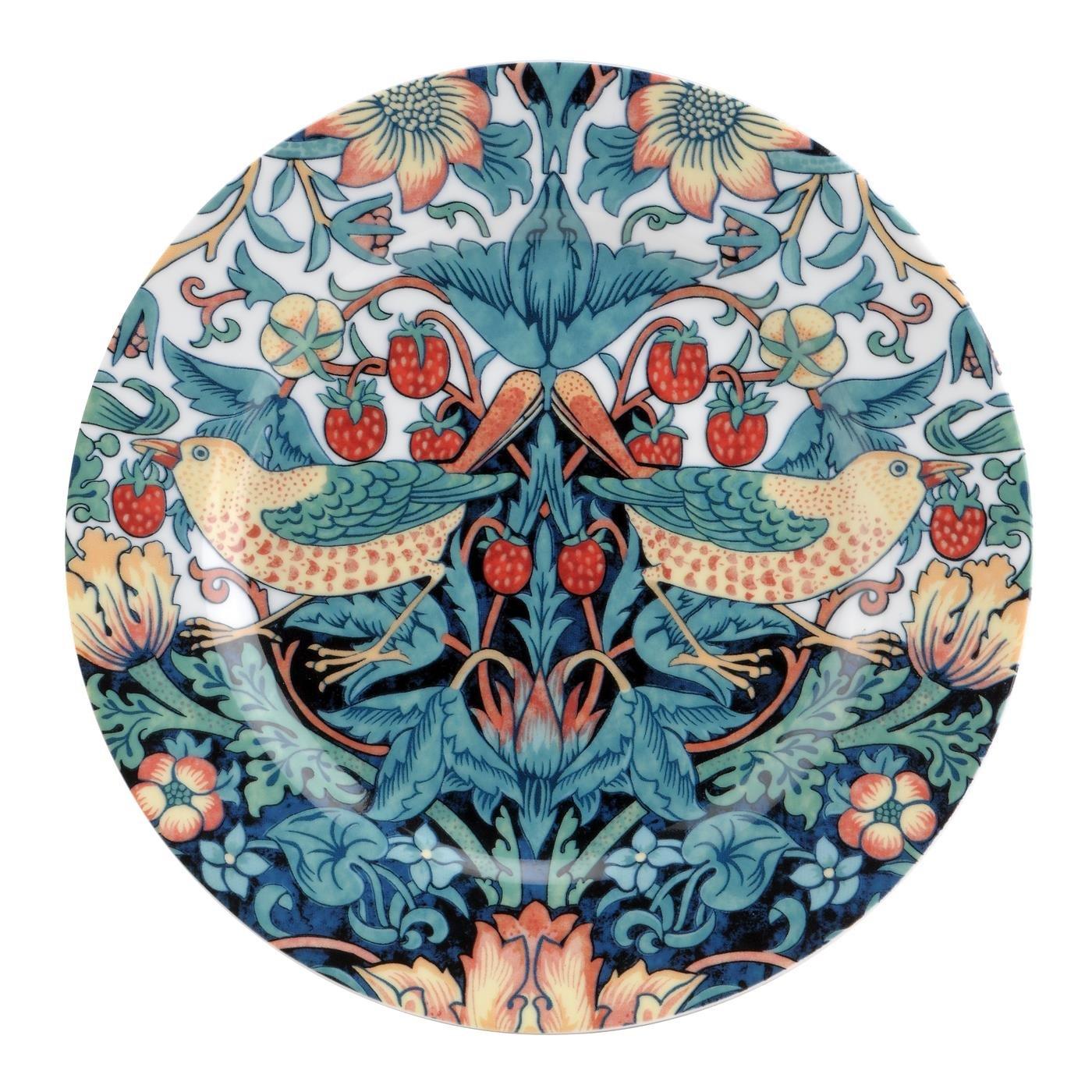 英國SPODE 威廉莫里斯William Morris聯名款~草莓鳥園21CM餐盤