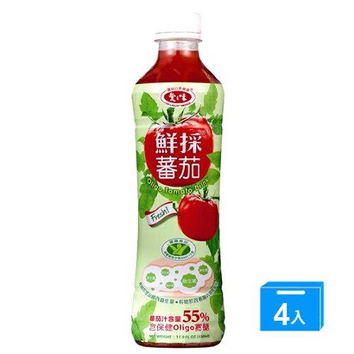 愛之味鮮採蕃茄汁-Oligo腸道保建540ml*4入【愛買】