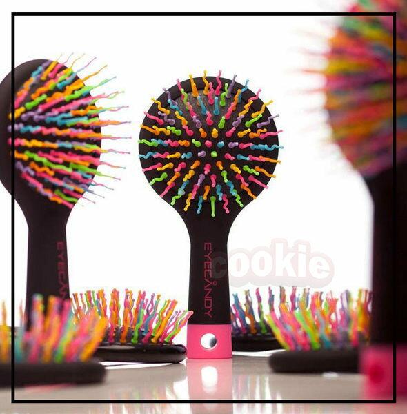 韓國 Eye candy 彩虹梳子美髮氣囊按摩梳防靜電順髮梳子魔法梳~庫奇小舖~ ~  好