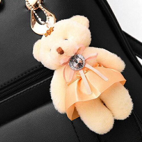包包 - 可愛學生風小熊吊飾三用背包【21551】 藍色巴黎《5色》現貨 1