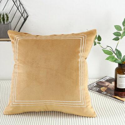 佳幫手居家 紅色沙發抱枕套不含芯45x45靠墊套55x55客廳辦公室網紅雙面絨靠墊