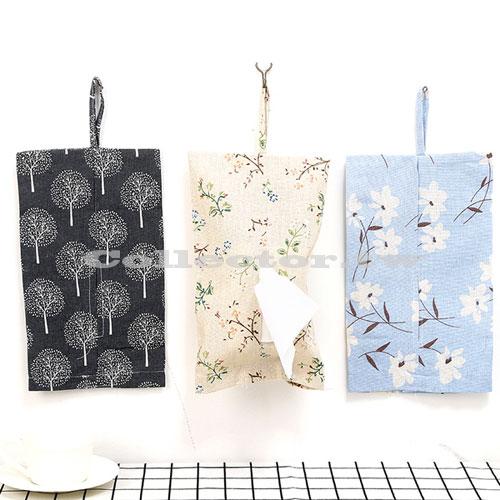 【F17070502】清新典雅棉麻布藝紙巾掛袋 紙巾套 紙巾盒 面紙盒