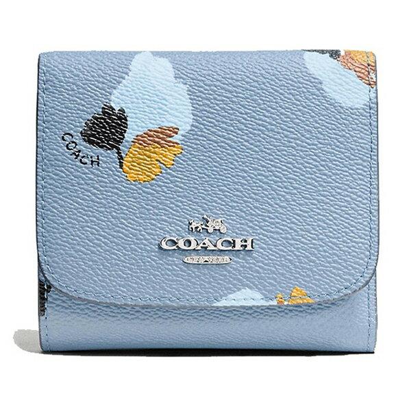 【COACH 時尚皮革短夾】COACH 53758 女士時尚皮質短款錢包錢夾 1
