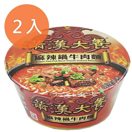 統一 滿漢大餐 麻辣鍋牛肉麵 204g (2碗入)/組