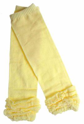 淺黃色素色保暖襪套【A026-3】