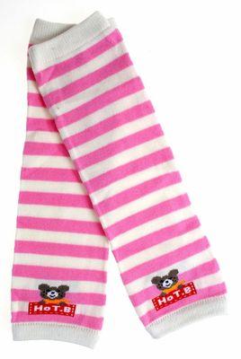 粉白小熊保暖襪套【A026-6】