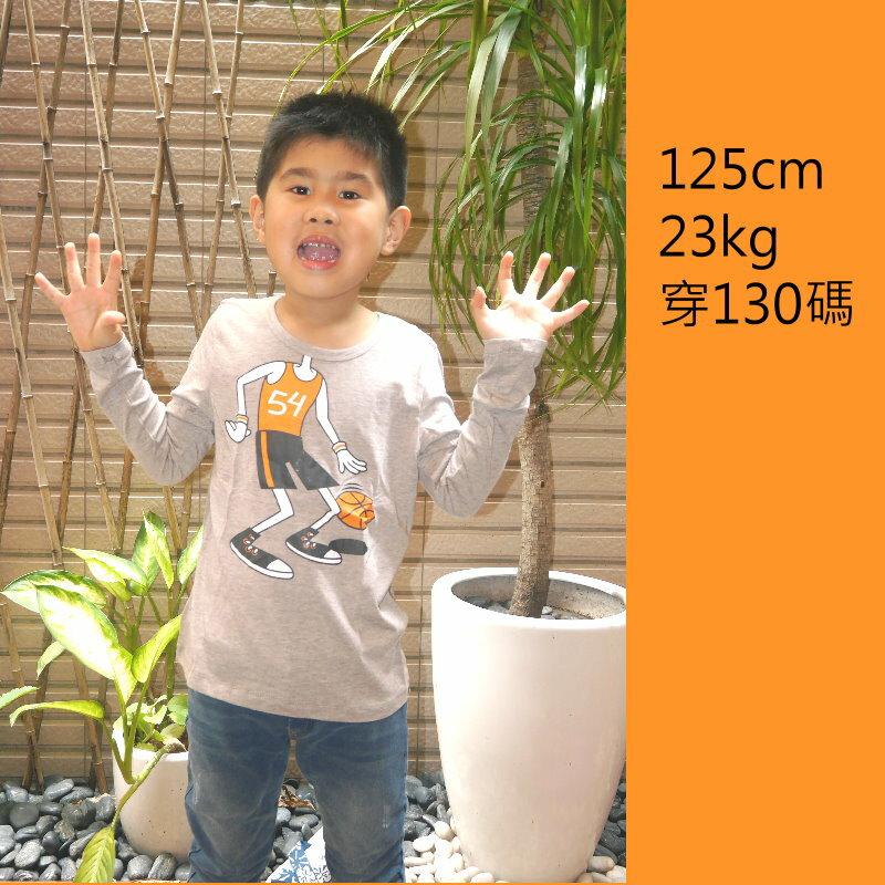 童裝 現貨 LBB小男生帥氣長袖棉T-09米橄欖球【11916】