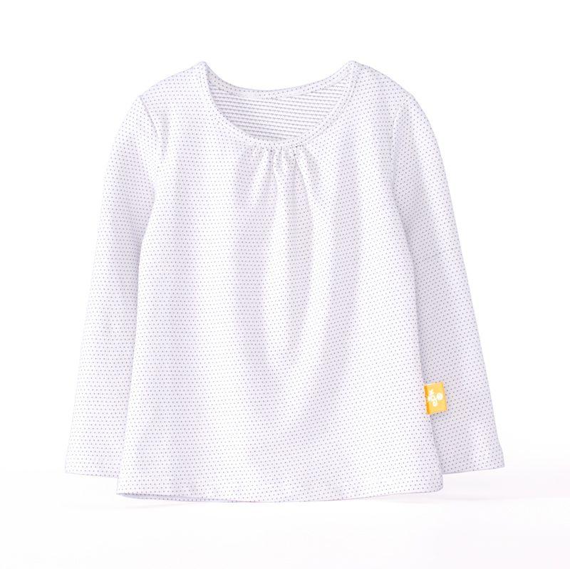 ~傑媽 ~100^%單棉多色點點前皺淑女長袖上衣~白底細點~71942~4~