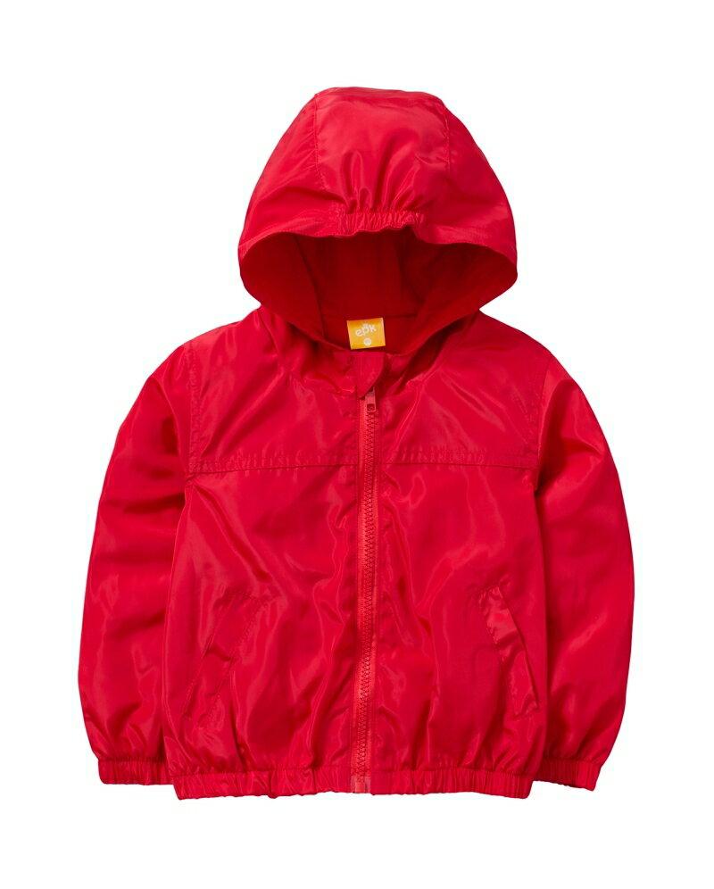 ☆傑媽童裝☆防水防風糖果色有帽外套-大紅色【84981-2】