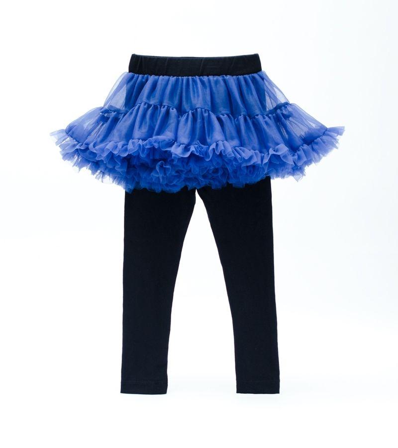 ☆傑媽童裝☆EPK小女生蕾絲裙長裙褲-藍色【90931-3】