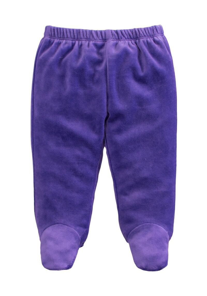 ☆傑媽童裝☆保暖天鵝絨寶寶包腳褲-深紫色【84079-2】