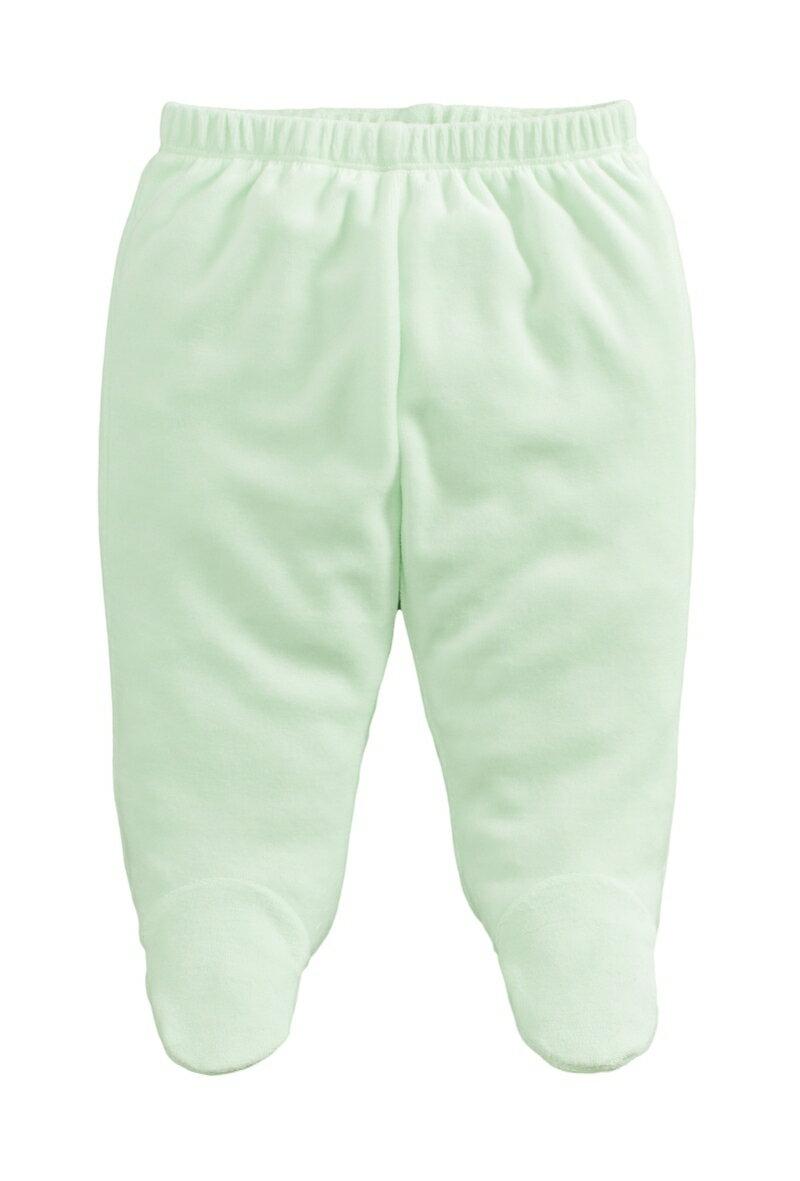 ☆傑媽童裝☆保暖天鵝絨寶寶包腳褲-淡綠色【84079-3】