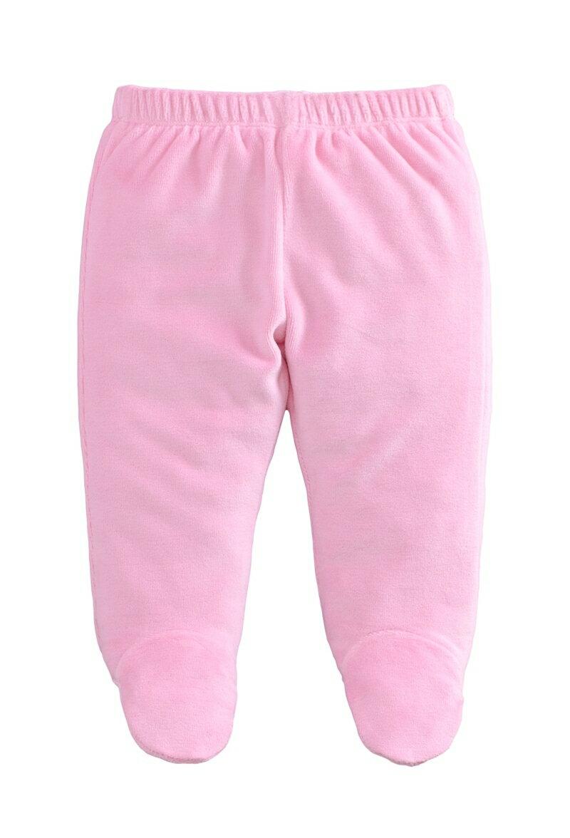 ☆傑媽童裝☆保暖天鵝絨寶寶包腳褲-粉色【84079-4】