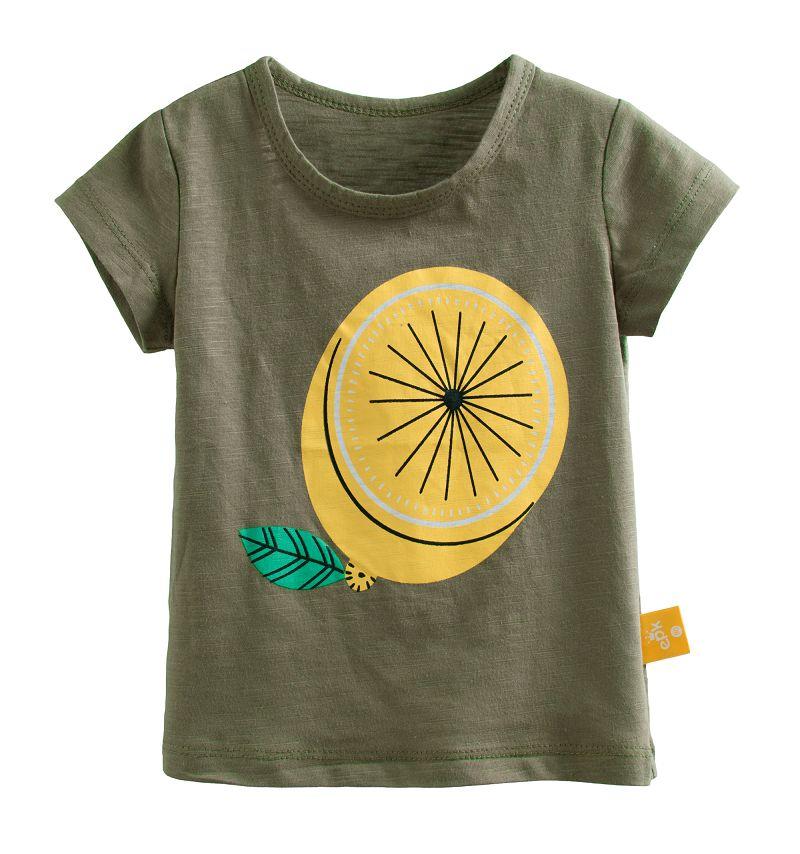 ~傑媽 ~水果系列竹節棉短袖上衣~墨綠檸檬~21149~2~