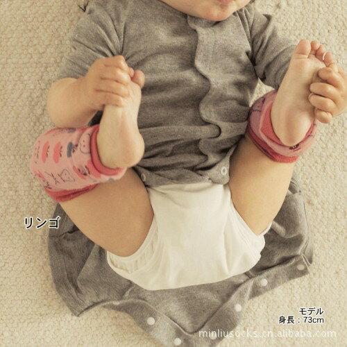 ☆傑媽童裝☆棉質粉底蘑菇長襪套/保暖/學爬必備【A44】