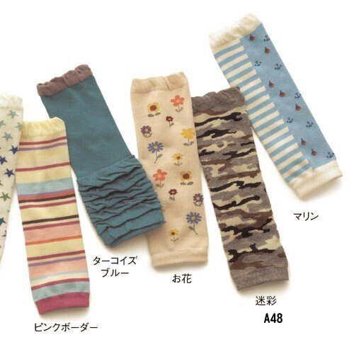 ☆傑媽童裝☆棉質灰底迷彩風長襪套/保暖/學爬必備【A48】