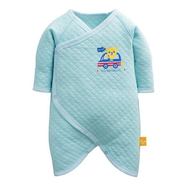 童裝現貨冬季空氣棉包手蝴蝶衣-01藍底車車【40229】