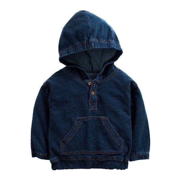童裝現貨純棉有帽牛仔上衣外套-A款深色【57246】