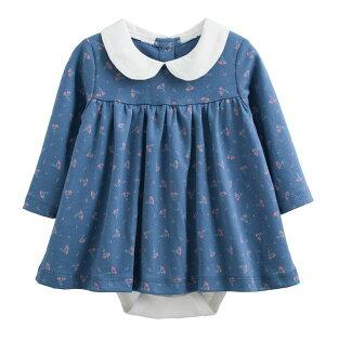 童裝現貨娃娃款長袖裙式連身衣-02款牛仔藍【97213】