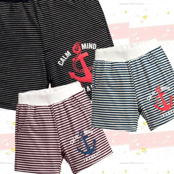 童裝現貨實搭條紋居家短褲,8色可選【19448】
