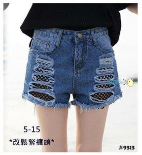 童裝現貨軟牛仔黑網牛仔短褲,8歲以內可穿【40509】
