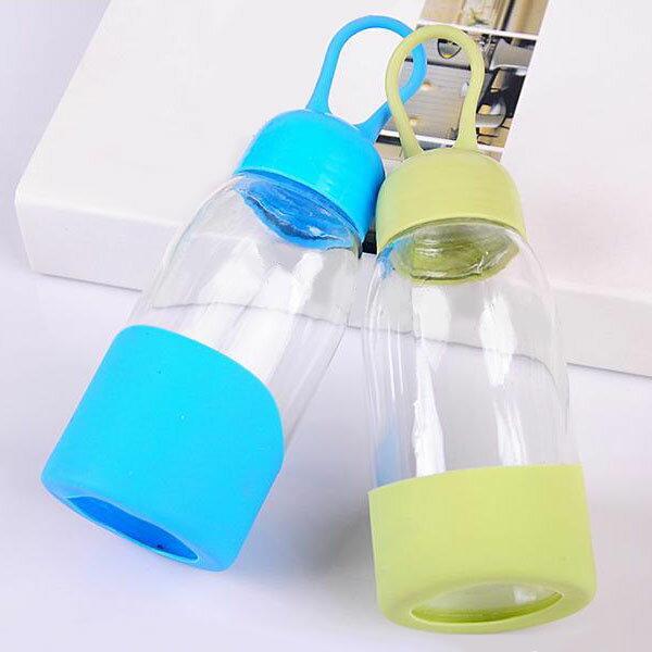 【aife life】水滴玻璃杯 / 透明玻璃冷水杯 / 韓系隨身瓶環保杯 / 自行車運動隨身杯 / 登山戶外郊遊水壺 0