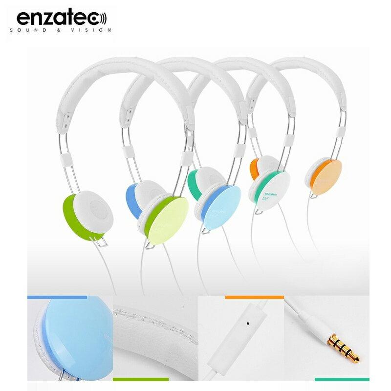 Enzatec HS306WH 耳罩式耳機/麥克風/聽音樂/頭戴式/可調式/馬卡龍色彩/iPhone 6/6 Plus/5S/5C/iPad Air/Air2/Mini/2/3/4/iPod/華為 H..