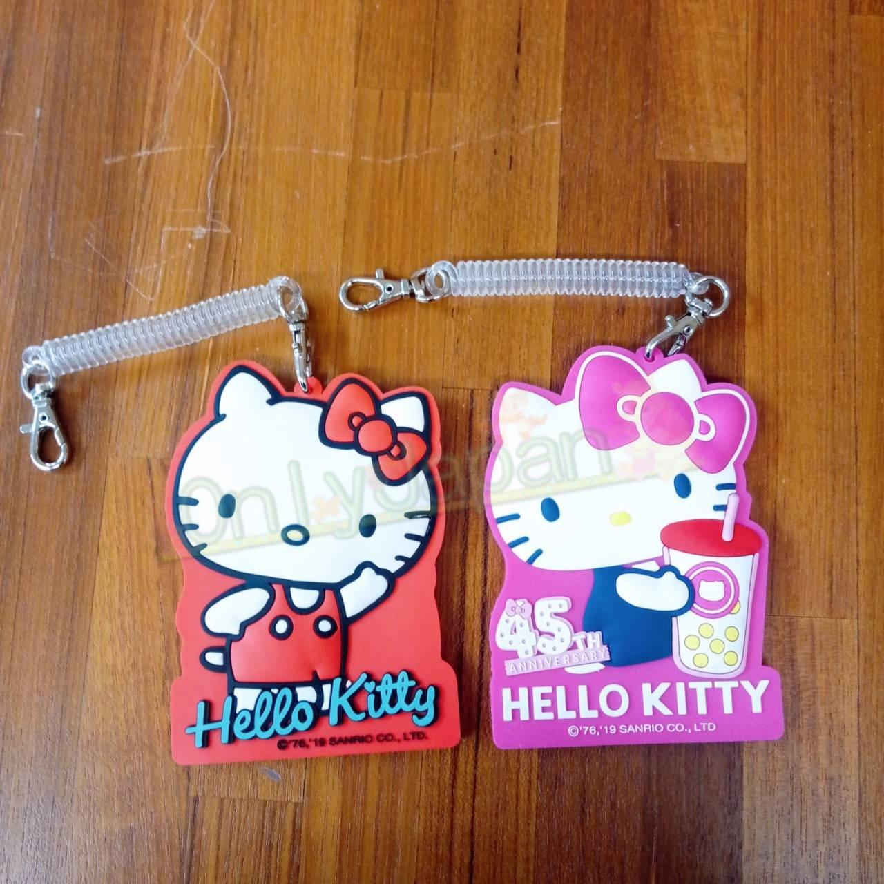【真愛 】19031400008 伸縮矽膠證件套-KT 45TH 凱蒂貓kitty 45周念限 悠遊卡套 辦公用品 證件套 卡片套 卡片收納