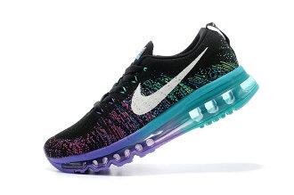 Nike air max 全掌彩虹氣墊編織 女生運動休閒鞋 慢跑鞋 8002彩虹紫