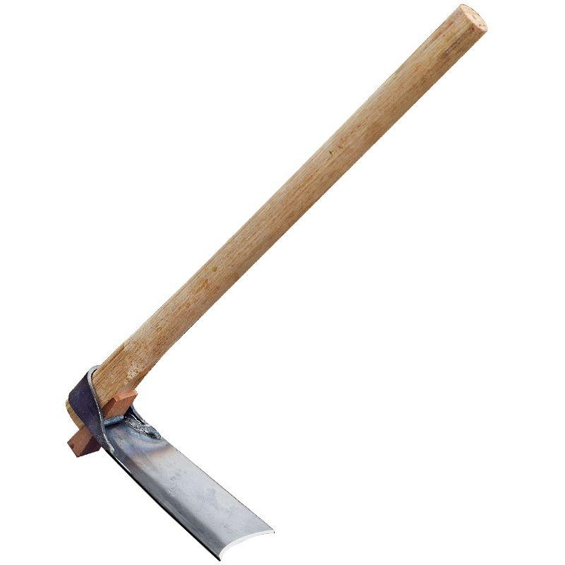 全鋼戶外小鋤頭老式種菜挖土木柄加厚花鋤小型小巧種花鋤草農具