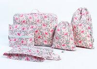小旅行必備行李袋收納推薦到火鶴鳥圖案收納五件套 行李箱 打包 整理 行李袋 登機 可折疊 衣物 拉鍊 ♚MY COLOR♚【N093】就在Mycolor推薦小旅行必備行李袋收納