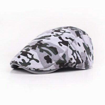 貝雷帽鴨舌帽-棉質迷彩印花戶外男女帽子3色73tv178【獨家進口】【米蘭精品】