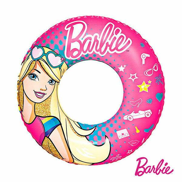 【Barbie】芭比娃娃充氣泳圈(69-34328)